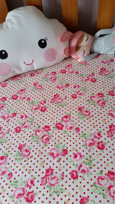 Fitted cot sheet Cotton, Floral,lecian  , Flower sugar Baby girl nursery. Ready made,Kawaii,  Handmade by Kittyandzac by kittyandzacs on Etsy