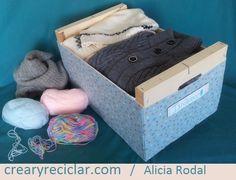 3 ideas con huacales para organizar - Crear y Reciclar Ideas Geniales, Storage Chest, Diy, Furniture, Home Decor, Reuse Recycle, Recycled Materials, Wood Boxes, Recycling