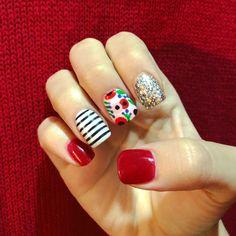 101 cute nail art designs for short nails 2019 page 30 Cute Nail Art Designs, Short Nail Designs, Gel Nail Designs, Nails Design, Red Nail Art, Red Nails, Red Summer Nails, Spring Nails, Cute Nails