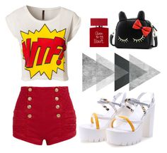 """""""Untitled #149"""" by altrisa-mulla ❤ liked on Polyvore featuring Pierre Balmain, Motel, Bella Freud and BeiBaoBao"""