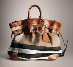 647d6e6a0a4e burberry bold stitch canvas check traveller bag- perfect for our honeymoon!