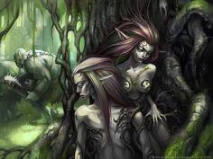 hunters by maruhana-bachi on DeviantArt Collectible Cards, Music Covers, Fairy Land, Dark Beauty, Faeries, Dark Art, Character Art, Fantasy Art, Graphic Art