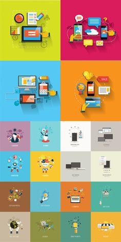 Flat design concept icon vector on Behance