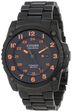 Citizen men watches : Citizen Men's BJ8075-58F Eco-Drive STX43 Shock-Proof Titanium Watch