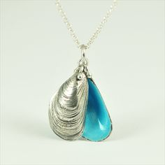 Enamelled Mussel Pendant by Alex Yule Jewellery