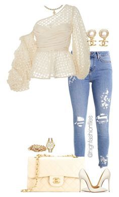 """""""Untitled #2774"""" by highfashionfiles on Polyvore featuring Chanel, Johanna Ortiz, Christian Louboutin and Michael Kors"""