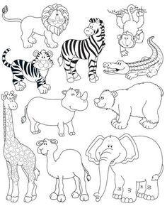 Animales de la selva para colorear