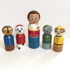 A personal favorite from my Etsy shop https://www.etsy.com/listing/264548440/paw-patrol-set-of-5-peg-dolls-ryder