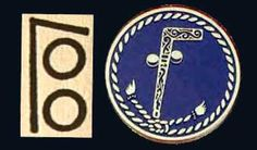 the insignia number that Elizabeth was to use for private communiques between her Court and Dee. I think the connection to the other image is a bit of a stretch.