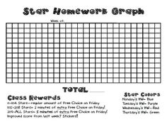 3rd Grade Thoughts: Universal Homework Model: Star Homework