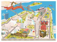 Edward Juan - Lower Manhattan, NY. A map of downtown New York...