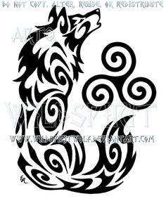 Howling Triskele Wolf Tribal Design by WildSpiritWolf on DeviantArt