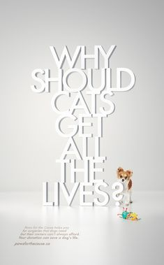 Paws for the Cause: Cats #print #ad