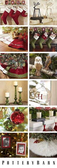Pottery Barn Christmas - Stockings and tree skirts and ornaments, oh my!