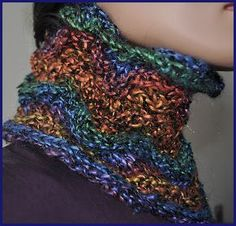 Monaco Cowl - 2 Ball cowl - Crystal Palace Yarns - free knit cowl pattern