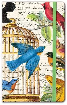 a really beautiful journal.I'm in love with it!♥ I really like the birdy style