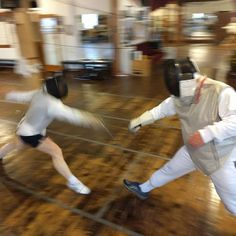 Saturday morning fencing.  Olympic fencing in the heart of Downtown Fayetteville.  #tryfencing #wedaryounottoloveit #weallplayswords  #downtownfayetteville #coolspringdowntowndistrict @downtownfay @fay_dta