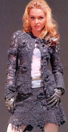 Irish Crochet Suit, with full pattern