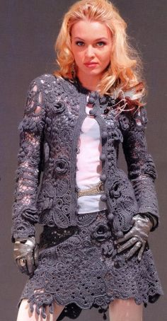 Irish Crochet Suit, with full pattern