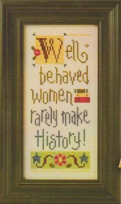Well Behaved Women Giggle Boxer - Cross Stitch Kit