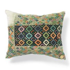 Handmade pillows, created from vintage Guatemalan huipil.