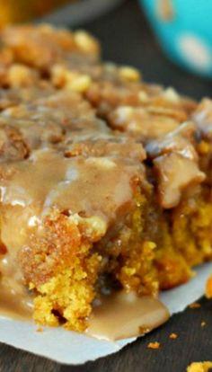 Maple Glazed Pumpkin Coffee Cake Recipe