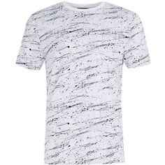 c3216a73552 TOPMAN White Blue Splat Printed T-Shirt ( 15) via Polyvore featuring mens