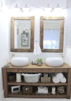 NEW RUSTIC CHUNKY SOLID WOOD BATHROOM SINK VANITY UNIT *handmade any size* | eBay