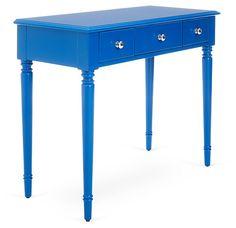 Gwendolyn Desk, Blue   The Modern Home   One Kings Lane