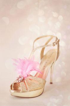 gold glamour showgirl platform shoe ... Christine Rose Elle