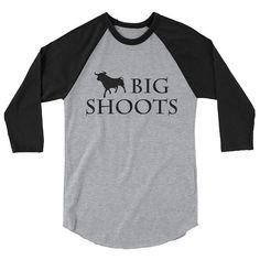 Items similar to Big Shoots Bull Graphic sleeve raglan shirt Funny Dad Shirts, Funny Gifts For Dad, Dad To Be Shirts, Redneck Girl, Cow Shirt, Dad Humor, Silhouette Cameo Projects, Raglan Shirts, Baseball Shirts