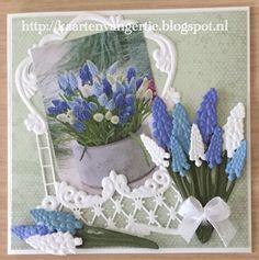 Marianne Design Cards, Handmade Card Making, Folder Design, Abstract Flowers, Flower Cards, Card Ideas, Scrapbooking, Diy, Embellishments