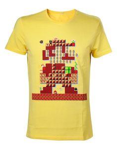 58ebcf6a67562 CAMISETA NINTENDO MARIO 30 ANIVERSARIO L Mario Bros Camiseta de alta  calidad- Licencia oficial-