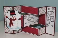 Snowman Tri-Shutter Christmas Card