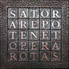 Het SATOR-vierkant is vooral bekend binnen de Kabbalistische traditie,  een lang palindroom. SATOR = de zaaier.  AREPO = op de akker,  TENET = houdt vast  OPERA = de bron van het Levenselixer. ROTAS = het wiel van de tijd of de seizoenen die steeds doordraaien.
