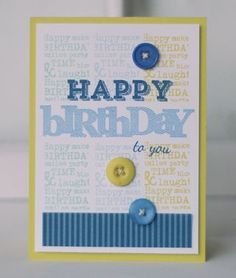 Happy Birthday To You Card by Betsy Veldman for Papertrey Ink (March 2013)