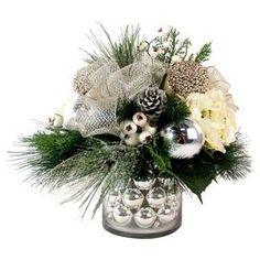 Faux Hydrangea & Mistletoe