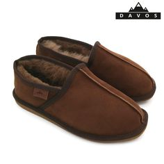 01f24525ee6 Men s Luxury Brown Handmade Genuine Sheepskin Suede Fur Slippers EVA Sole  New