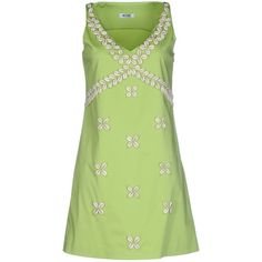Moschino Cheapandchic Short Dress ($155) ❤ liked on Polyvore featuring dresses, light green, light green dress, zip dress, green dress, short dresses and zipper dress