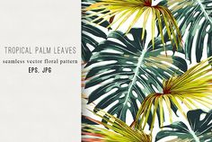 Tropical jungle leaves pattern by Tropicana on @creativemarket