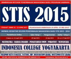 Bimbingan PT Kedinasan STIS Program Jaminan di Indonesia College Yogyakarta Start 19 April 2015