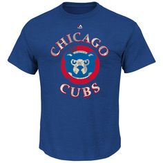 Men's Chicago Cubs Majestic Royal First Among Equals Cooperstown T-Shirt