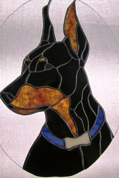 I made this for my friend Carolyn who loves/has dobies. Thank you Chantal Pare for the free pattern :)