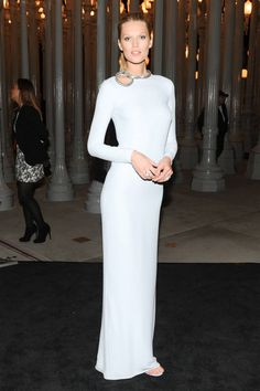 Look at the most memorable looks from the LACMA Gala, like Toni Garrn's, here: