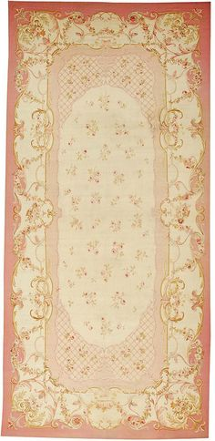 antique Aubusson French rug