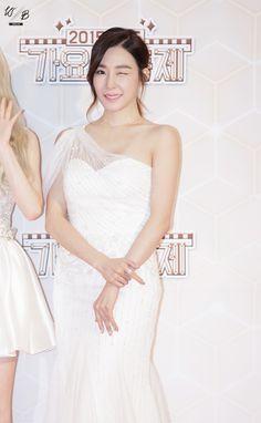 """151230 Tiffany - 2015 KBS Gayo Daechukje Red Carpet The White Balance | ☞ Do not edit, Do not remove the watermark """