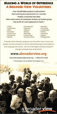 Volunteer Abroad Social & Conservation Programs https://www.abroaderview.org