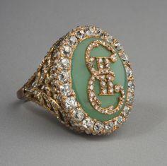 Ring met monogram van Catharina de Grote, eind 18e eeuw / Hermitage Museum, Sint-Petersburg, Rusland.