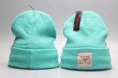 Mens / Womens Diamond Supply Co City Cuff LA NY SF Logo Patch Skully Knit Beanie Cap - Teal