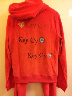 Key Cy Comfy Glamwear Huispak Hearts Lava Red